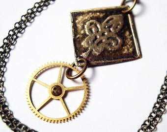 Steampunk Necklace Steampunk Jewelry Watch Gear - Free Domestic Shipping