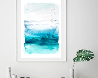 Abstract Painting Giclee Print , Fine Art Print, Watercolor print, Abstract art Print of Original Painting Giclee art print, blue watercolor