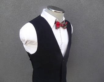 1980s Wool Cashmere Vest / Vintage Mens Waistcoat / 80s Mens Vest / Black Cashmere Wool Vest 42 Large / Mens Waistcoat / Mens Waist Coat VTG