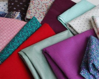 Fabric Destash, 2 Pound Bag cotton mix fabric