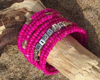 Personalized bracelet, custom word bracelet, word bracelet, fun jewelery, tween gifts, costume jewelry, mother's day gift