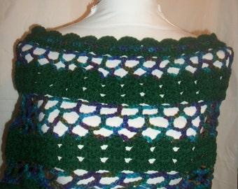 Crochet Scallop Shells Capelet (A06)