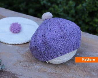 French Beret Hat KNITTING PATTERN Beret for Kids Toddler Hat  Baby Hat Knit Pattern Knit Beret Gift PDF Knitting Pattern-Instant Download