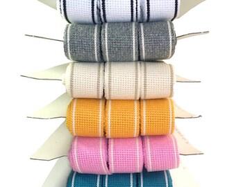 Bag Handle Stripe Edge Cotton Webbing 15mt Card ONLY 98p per meter