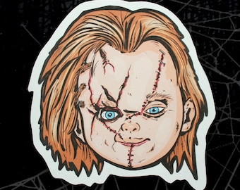 Chucky Childs Play Inspired Large Paper Sticker