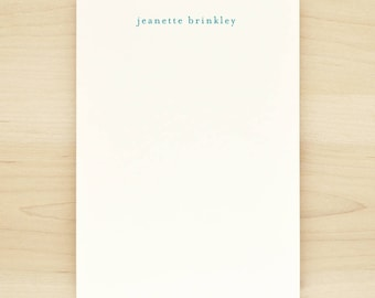 LOWERCASE Personalized Notepad - Custom Letterhead Business