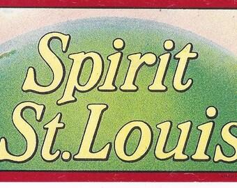 Spirit of St. Louis Vintage Cigar Label, 1930s