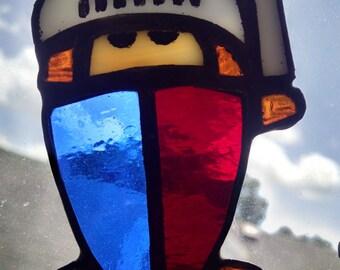 Itty Bitty Warrior Stained Glass Suncatcher