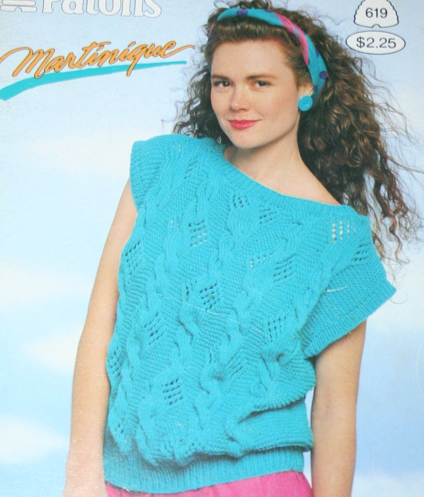 98b46121ec18 Sweater Knitting Patterns Summer Martinique Beehive Patons 619 Women Men  Worsted Weight Yarn Vintage Paper Original NOT a PDF from elanknits on Etsy  Studio