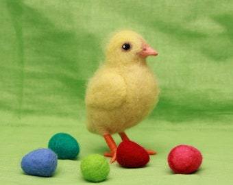 Needle felted Chick, Easter Chick, Wool Chick, Wool bird