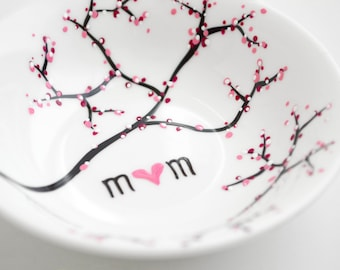 Cherry Blossom Branch Jewelry Dish - Personalized Jewelry Bowl, Mothers Day Gift, Ring Dish, Ring Bowl, FREE SHIPPING, Best Seller