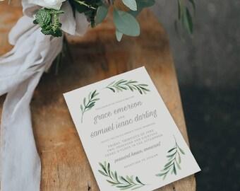Editable Wedding Invitation Template, Printable Wedding Invitation, Wedding Invitation Printable, Wedding Invitation Download - KPC02_102