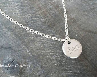 Necklace best friend, best friend, gift, gift christmas, chain quotes, silver plated, sisters, sisters, chain statement, sayings