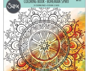 NEW LOW PRICE: Sizzix Coloring Book - Bohemian Spirit by Lindsey Serata  661531