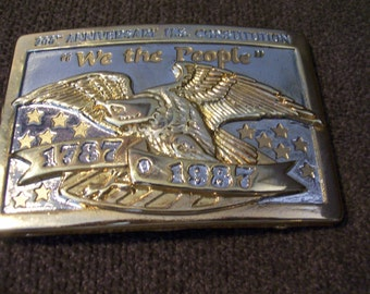 200 Anniversary US Constitution, We The People Buckle