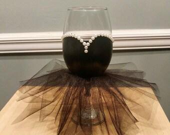 Little Black Dress Wine Glass