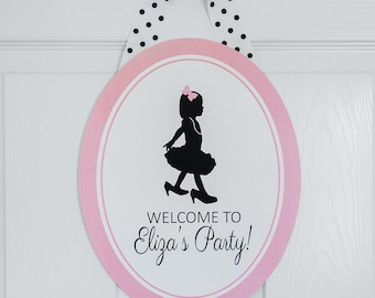 Little Miss Collection: Printable Silhouette Welcome Sign