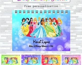 Disney autographs, Disney autograph book, Walt Disney World autographs, autograph journal, Princesses, Disney gift, keepsake, autographs