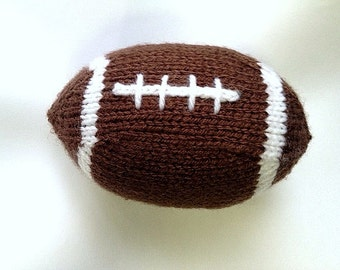 Football Hand Knit for Stress Relief Toy Stress Ball Team Gear