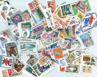 500 Postage Stamps - Scrapbooking, collage, altered art