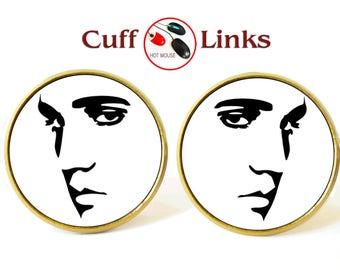 Music cufflinks, music jewelry, music gifts gift, gift for him, dj cufflinks, gift for dj, valentines christmas gift, rock metal cufflinks