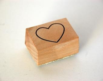 Wooden block stamp - Heart