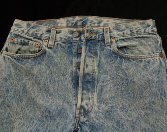 Vintage Levis jeans 33x34  501 faded blue stonewash