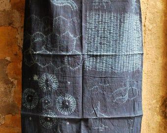 Shibori Indigo Cotton Stole