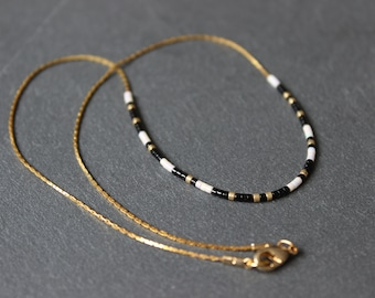 """Gold plated coded message """"Yin Yang"""" necklace"""