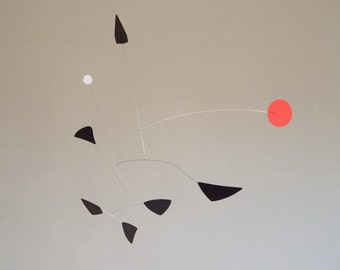 Mid Century style mobile in Red/White/Black.