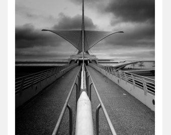 Milwaukee Art Museum - Calatrava - Architecture - Digital Photo - Instant Download - Stock Photograph - Fine Art Photography
