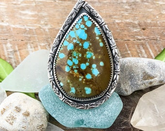 Paisley in No. 8 ~ Turquoise Ring Size 7.5-7.75