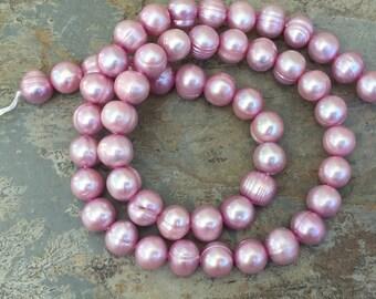 Pink Potato Pearls, 8mm, 16 inch strand