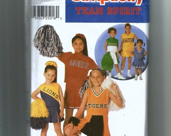 Simplicity Child's Design Your Own Cheerleader Outfits Pattern 9798