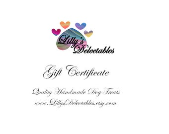 15 Dollar Gift Certificate (Mail Delivery)