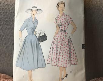 Vintage 50s Advance 6771 Dress Pattern-Size 16 (34-28-37)