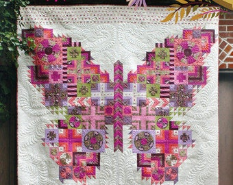 The Butterfly Quilt Pattern by Tula Pink, Tula Pink Butterfly Quilt Pattern, Butterfly Quilt Pattern