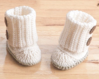 Baby Booties CROCHET Pattern, Sizes from 3 months-12 months