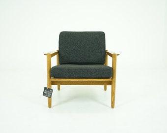 310-117 Oak Lounge Chair Danish Mid Century Modern