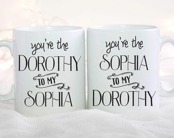 Golden Girls, Mom Mug, Mother Daughter, Sophia Patrillo, Mug For Mom, Dorothy and Sophia Mug Set, The Golden Girls, Set of 2
