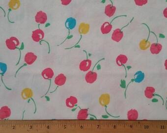 Boutique Cotton Knit Fabric - Cherries Jubilee  - 100% Cotton Knit