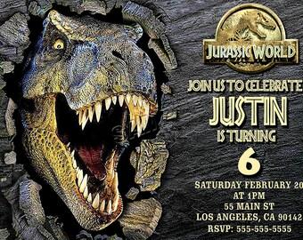 Jurassic World Invitation, Jurassic World digital file