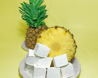 Tropical Pineapple Gourmet Marshmallows  - 16 Gourmet Handcrafted Marshmallows