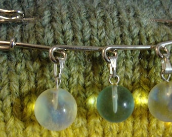 Scarf Pins, silver, 3 beads