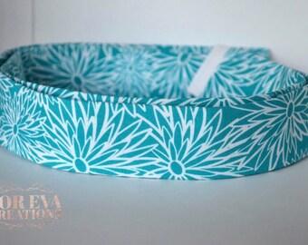 Martingale Style Collar || Blue Daisy Fabric