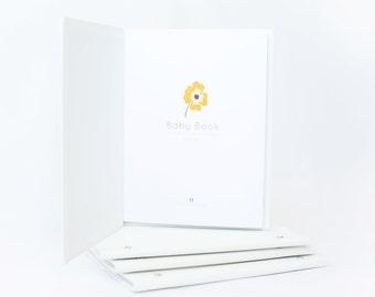 Modern Baby Book-PETAL, Baby Book, Baby Memory Book, Baby Shower Gift, Baby Gift, Baby Album, Keepsake Baby Book,Baby Journal,Memory Book