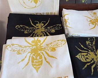 Golden Bee Linen teatowels