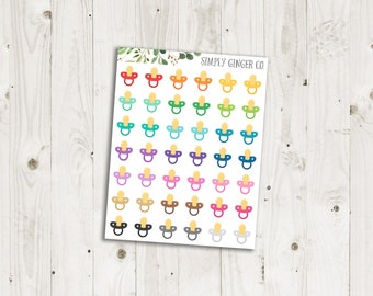 Baby Soother Stickers - ECLP Stickers