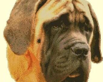 Old English Mastiff Counted Cross Stitch Kit