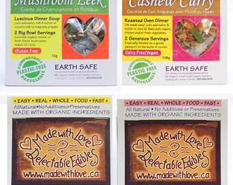 Four Artisan Magic Meals - DIY Soup Mix Gift Set - Stock Pot - Soup Pot - Soup Mix - Casserole Dish - Roasted Oven Dinner- Magic Meal Kit